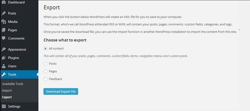 Eport WordPress screenshot