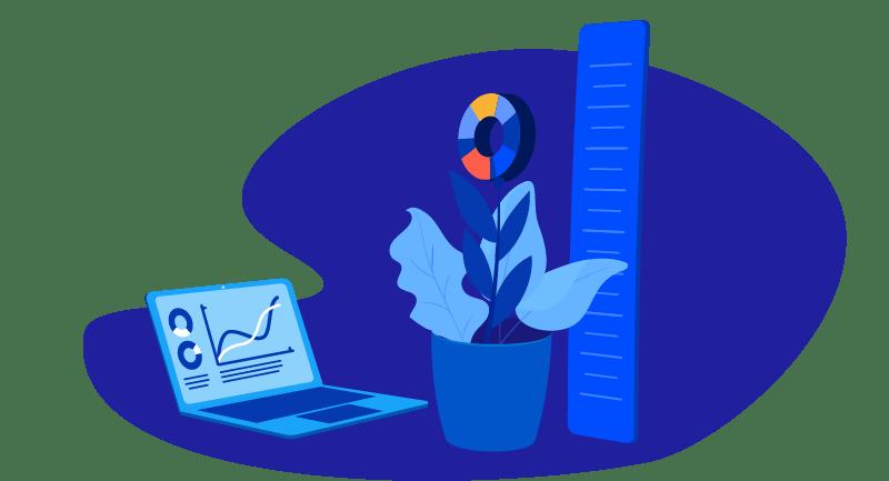 flowering plant growing with WordPress website
