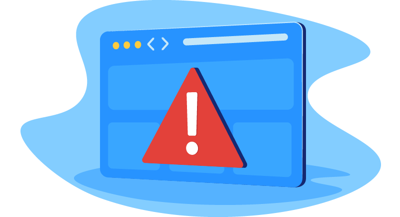warning message on website