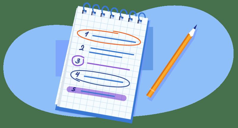 making a list of options
