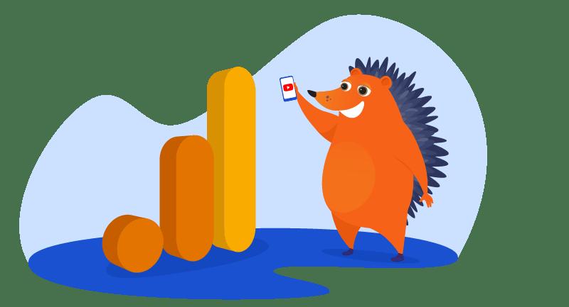 Hedgehog measuring growth