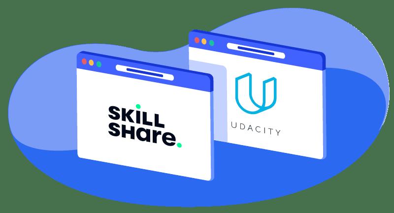 Skillshare and Udacity logos