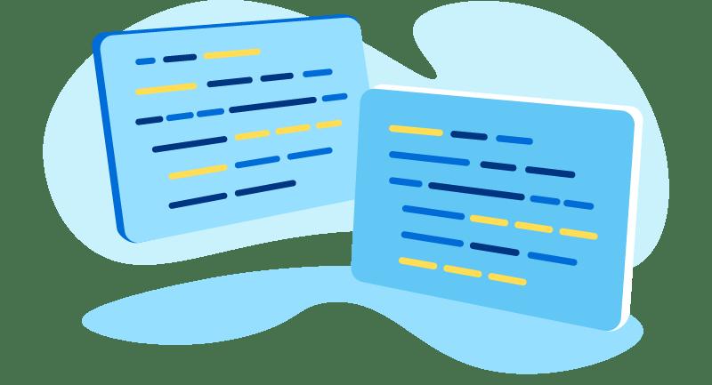 illustration of code - Python vs Rust
