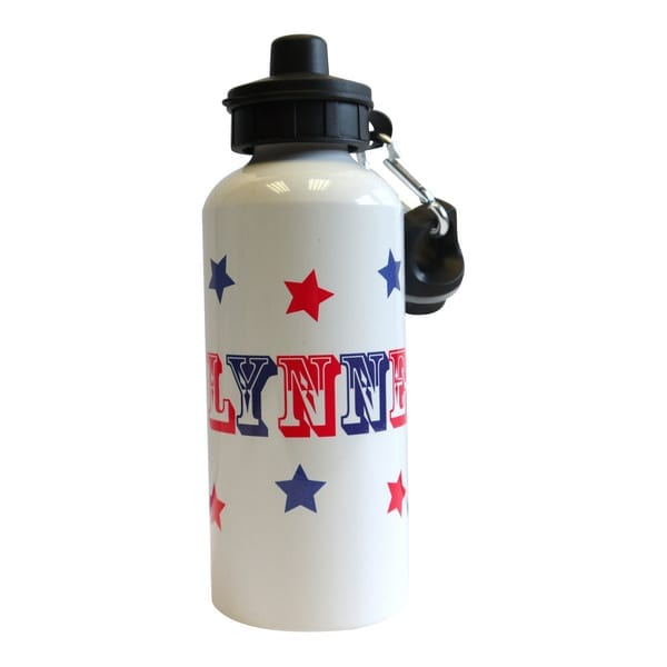 Water Bottle Name Tags: Stars Water Bottle