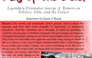 Interview with George Romero by Jason V Brock in Nameless…