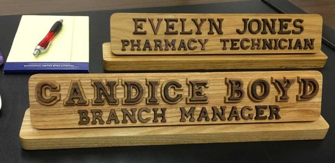 What a custom desk name plate says about you  Name Plates