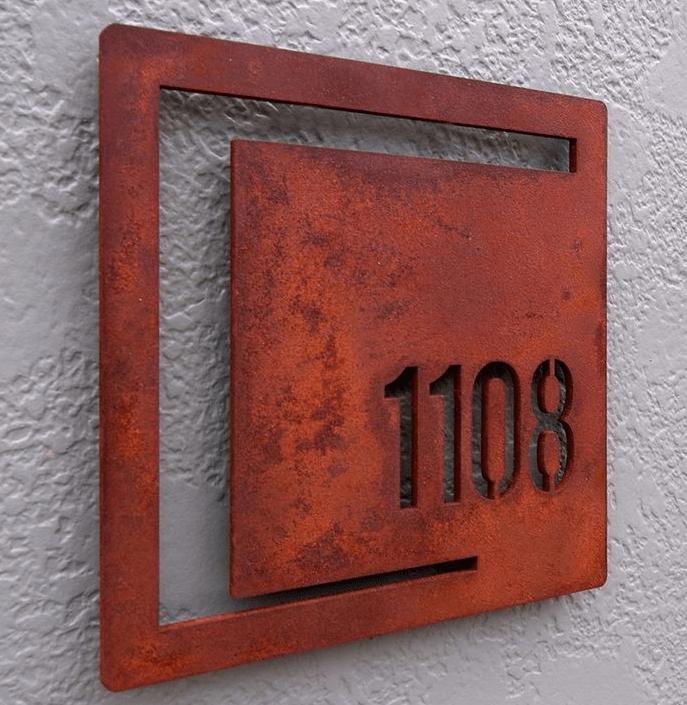 Customized Stainless Steel Apartment Door NumberDoor Number PlateSign ManufacturerMaker