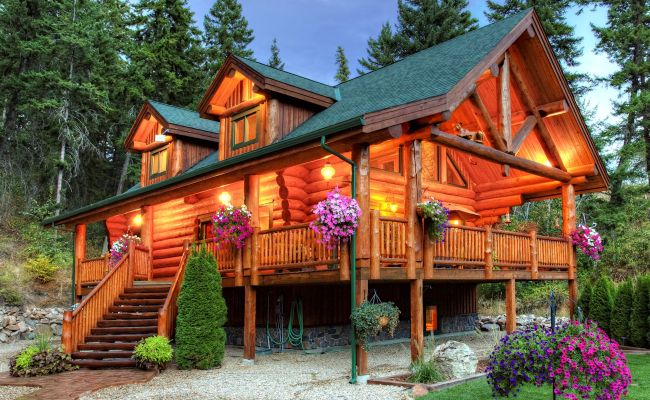 Luxury Log Home Custom Log Cabin Plan International