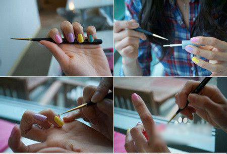 how to easily make candy-colored nails