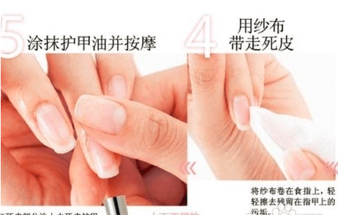 Specific steps of basic nail care