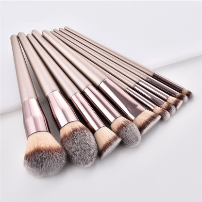 Champagne Color Makeup Brushes