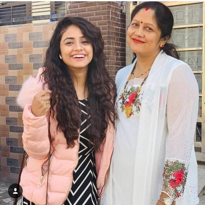 Nisha Guragain with her mother