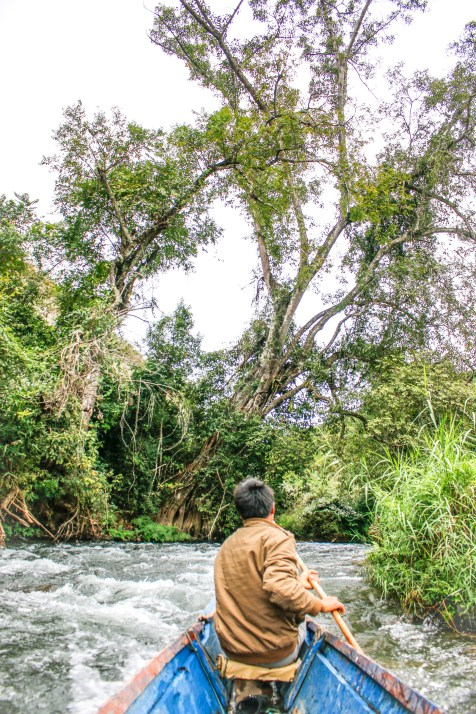 Skilled boatmen, former fishermen, navigate the rapids while we sit back and relax.