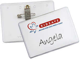 3 X 4 Vinyl Badge Holders With Pinclip