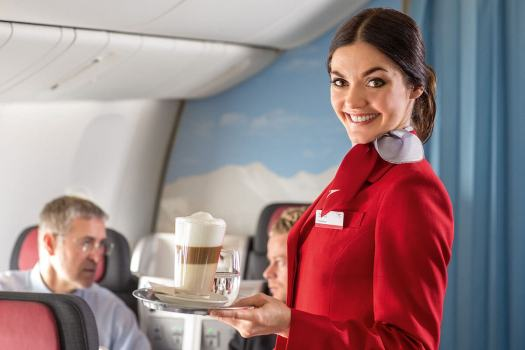 Stewardess with Name Tag