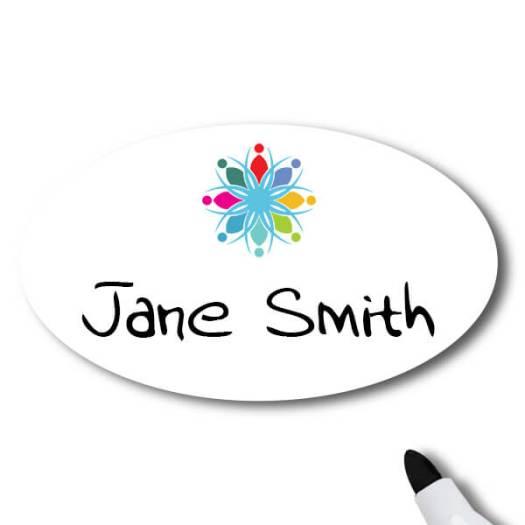 Dry Erase Name Tag Reading Jane Smith
