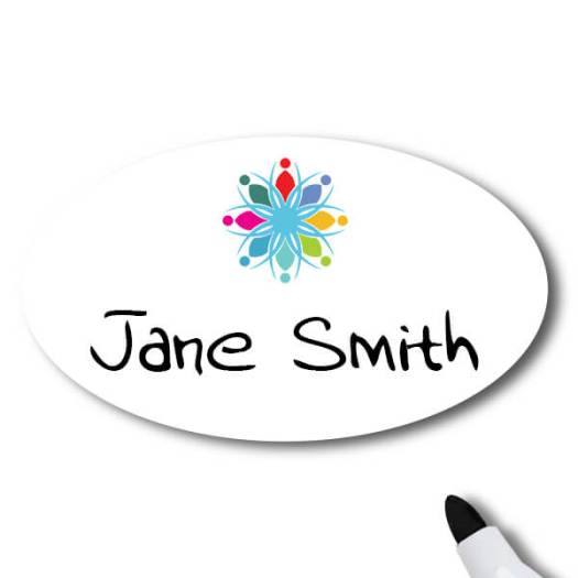 Dry Erase Name Tag Reading Jane Smith