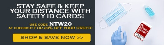 Save On Your Order with Code NTW20, High-Risk ID Badge