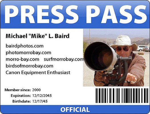 Photo ID Badge for Press
