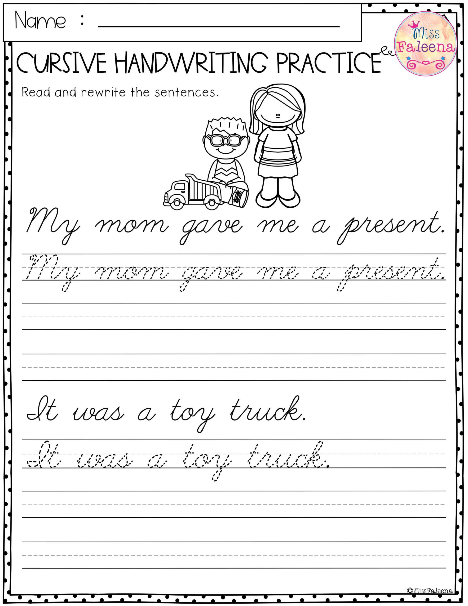 Create Sentence Tracing Worksheets