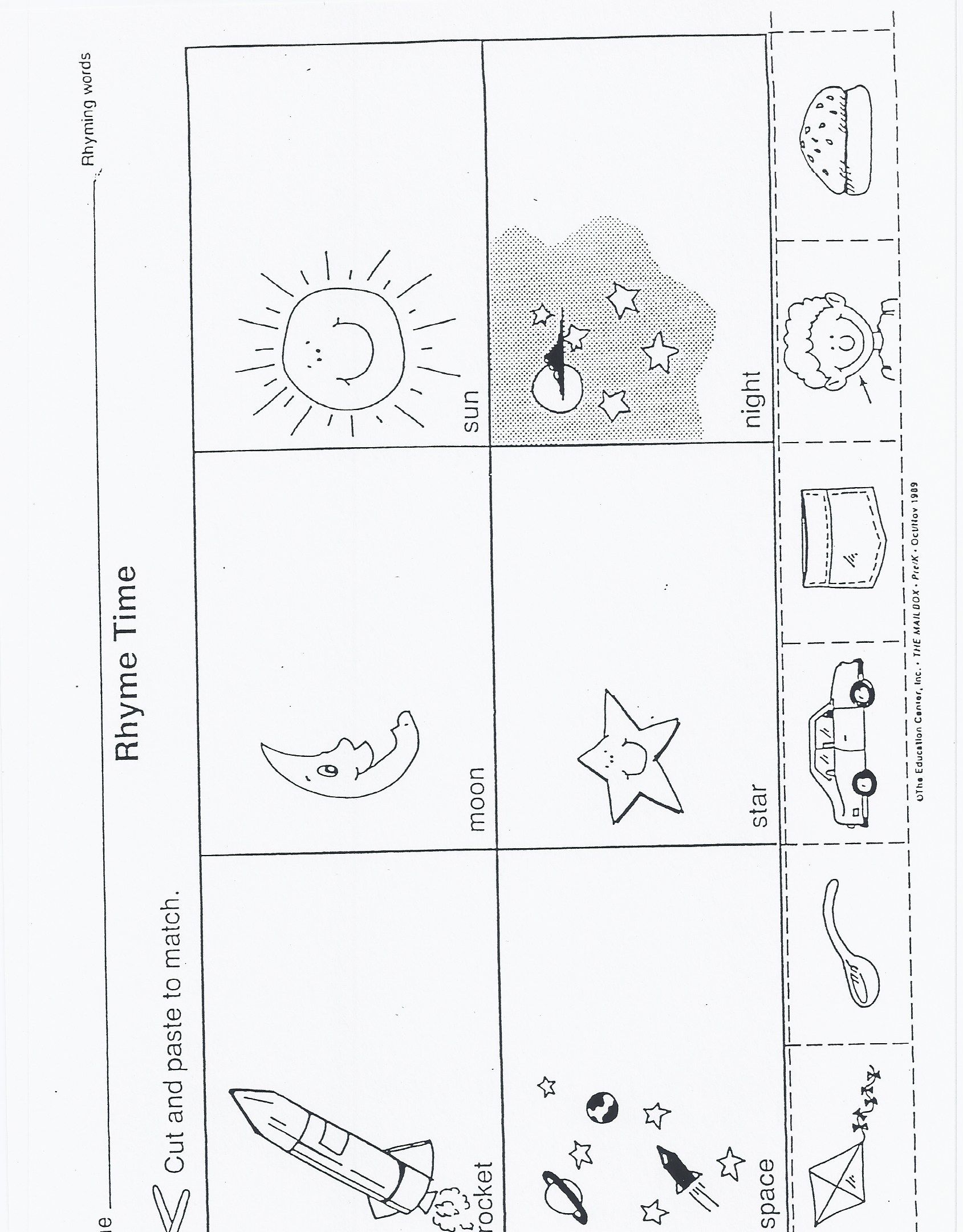 Space Themed Tracing Lines Worksheet