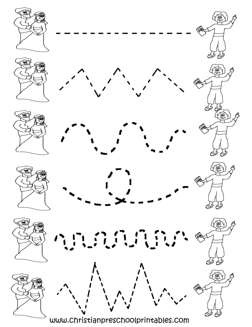 Tracing Lines Worksheets Todddlers
