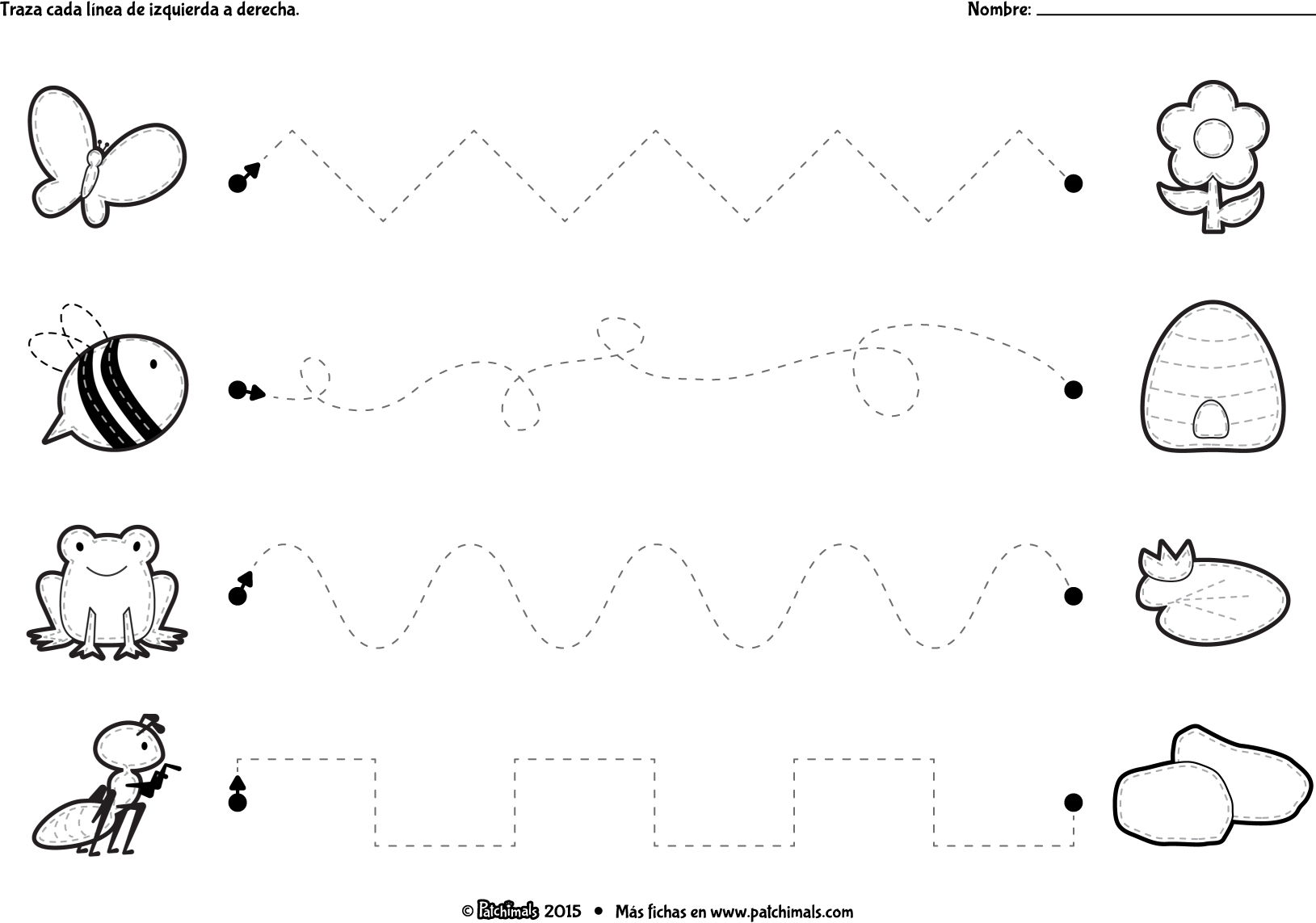 Left To Right Tracing Worksheets