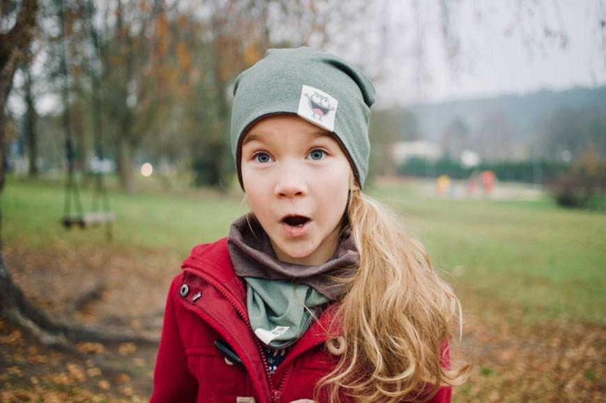 Vaikiška kepurė rudeniui 'MONSTRIUKAI'