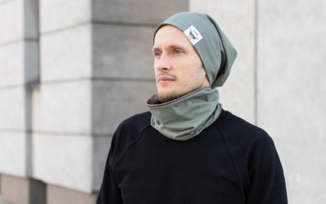 Vaikiška kepurė rudeniui 'MONSTRIUKAI' - Dvipusė Chaki-Ruda