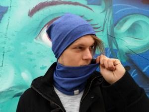 Pavasarinė vyriška kepurė - dvipusė Mėlyna-Pilka