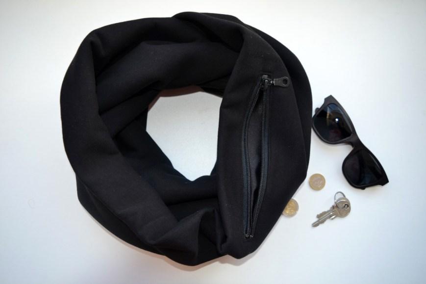 Vyriškas šiltas šalikas apsuktukas su kišene