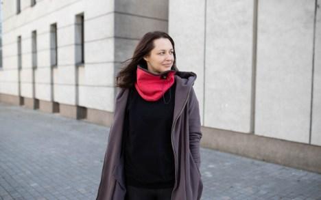 Storas Movas su fiksatoriumi - Raudonas/Rudas