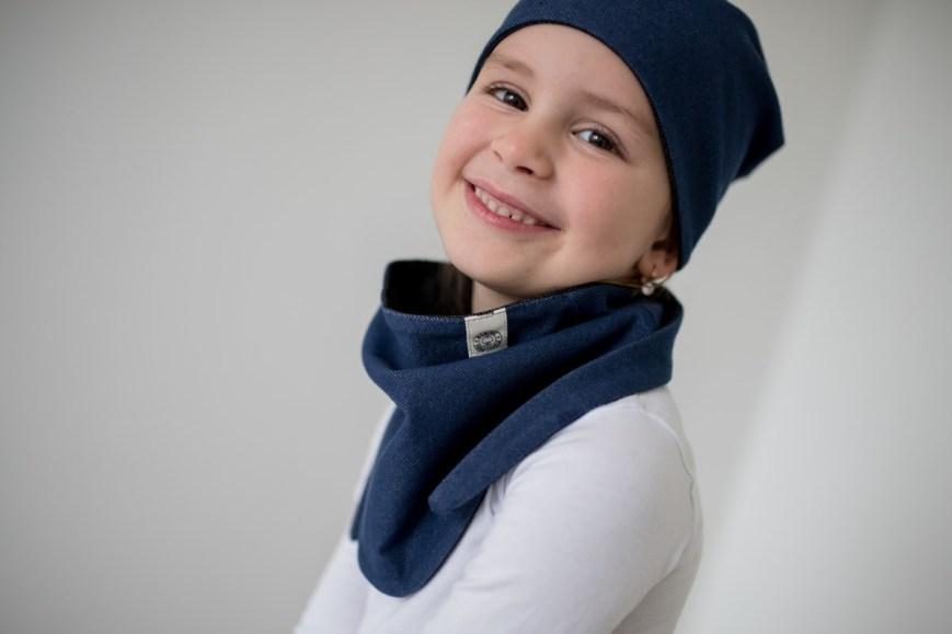Dvipusė kaklaskarė vaikui - seilinukas kūdikiui