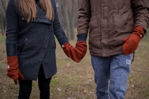 Meilės pirštinė porai - liepsna