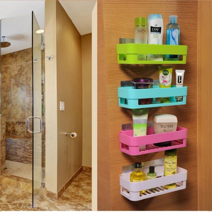 etagere de douche avec ventouse etagere de rangement mural organiseur pour salle de bain et cuisine