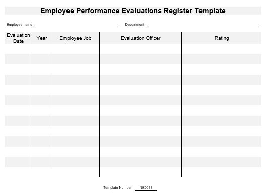 This template is useful to employees and companies where the travel expenses are reimbursed on an actual basis. Ne0013 Employee Performance Evaluations Record Template English Namozaj