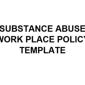 NE0191 Substance Abuse Workplace Policy Template