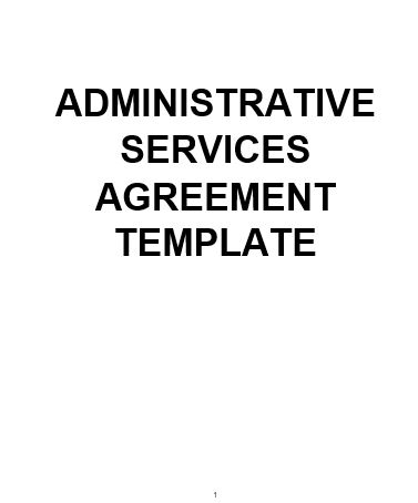 NE0159 Administrative Services Agreement Template