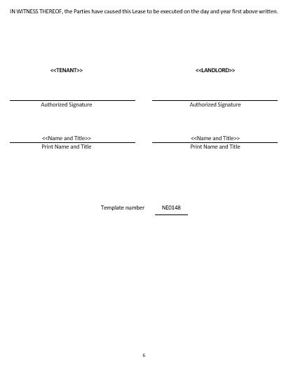 NE0148 Month to Month Rental Agreement Template