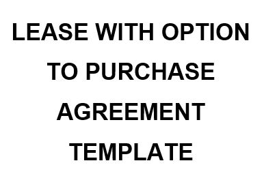 NE0149 Lease with Option to Purchase Agreement Template