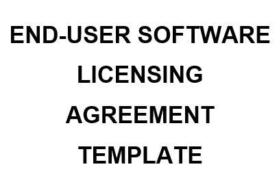 NE0194 End-User Software Licensing Agreement Template