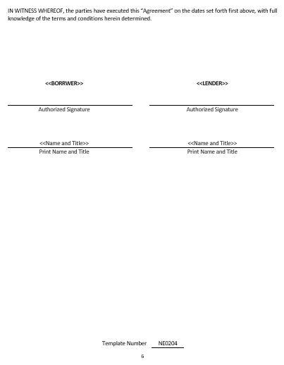 NE0204 DEBT REPAYMENT AGREEMENT TEMPLATE – ENGLISH