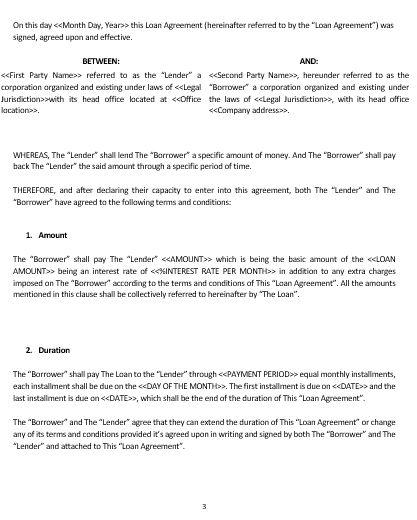 How to write a loan agreement. Ne0212 Loan Agreement Template English Namozaj