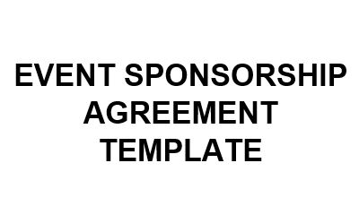 NE0285 EVENT SPONSORSHIP AGREEMENT TEMPLATE