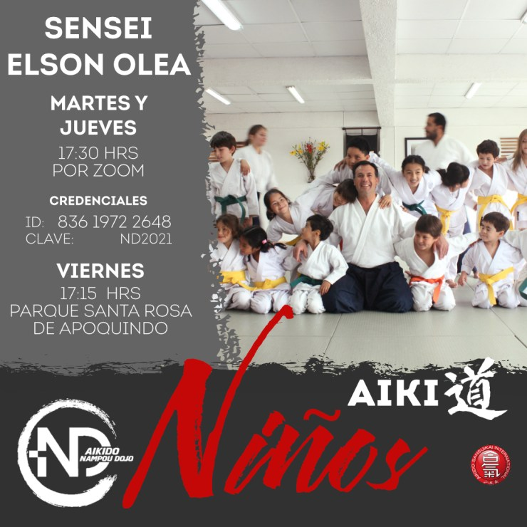 horario aikido niños fase 2 nampou dojo las condes
