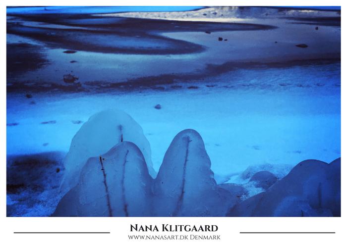Postkort – Blue Ice