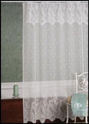 Feminine Amp Airy Floral Design Point Desprit Lace Shower Curtain Romantic