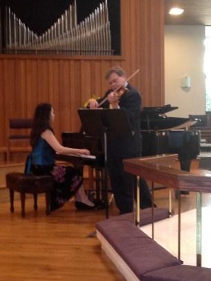Arthur Zadinsky violin Dr. Oana Rusu Tomai piano
