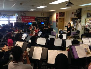 Olsmsted Academy South Band rehearsal