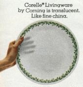 corelle, dish, 1970s, corning